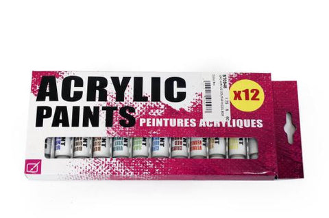 Acrylic Paints x 12