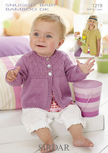 Free 8 Ply Knitting Patterns For Children : Sirdar Knitting Pattern 1219 - Baby Cardigan   Crafts by Design