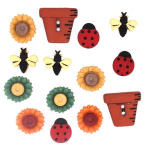 Bugs and Blooms - Dress It Up Buttons by Jesse James
