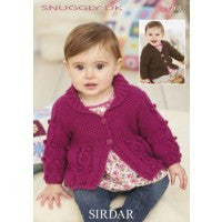 Sirdar Knitting Pattern 1268 - Baby/Kids V Neck and Shawl Collar Cardigan - DK