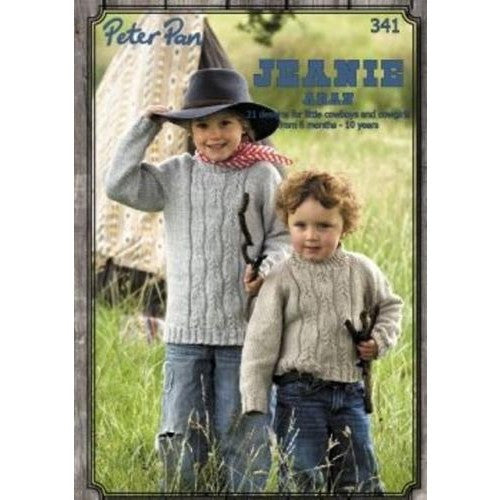 Jeanie Aran Knitting Pattern Book - Peter Pan 341