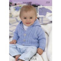 Sirdar Knitting Pattern 1518 - Baby Hooded Cardigan - DK