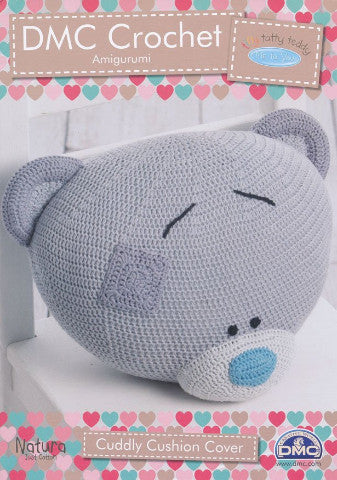 Tiny Tatty Teddy Cuddly Cushion Cover - DMC Crochet Amigurumi Pattern