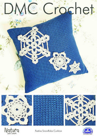 Festive Snowflake Cushion Pattern - DMC Crochet