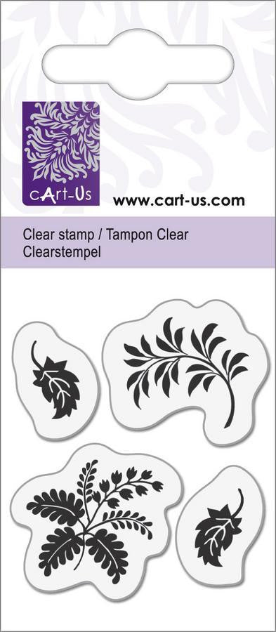 cArt-Us Clear Stamps - Leaves