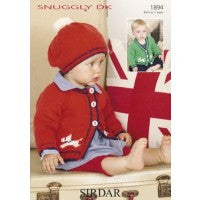 Sirdar Knitting Pattern 1894 - Baby Cardigan and Hat - DK