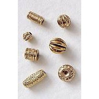 Plated Beads - gold - 32 pieces