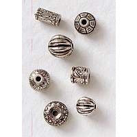 Plated Beads - Silver - 32 pieces