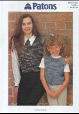 Childs/Adults Cropped Top Knitting Pattern - Patons 2046