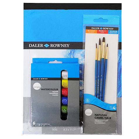 Daler Rowney Simply Watercolour A4 Art Set