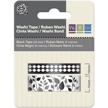 We R Memory Keepers Washi Tape x 2 – Black