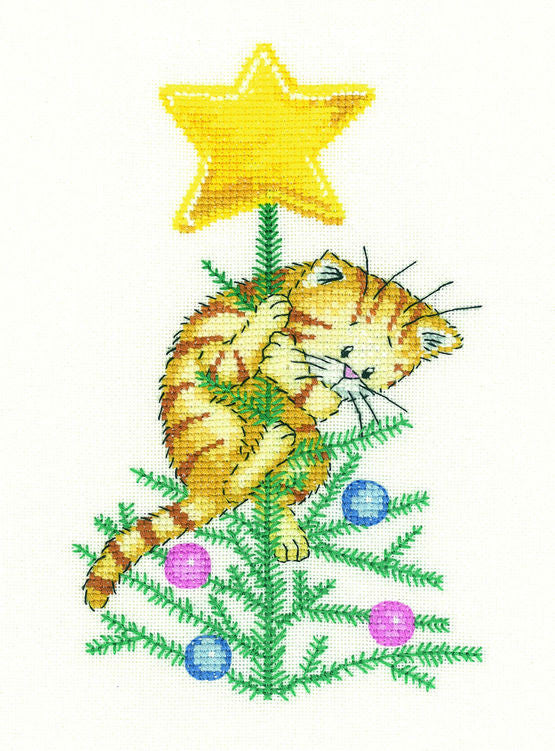Heritage Crafts - Cats Rule - Help! Cross Stitch Kit