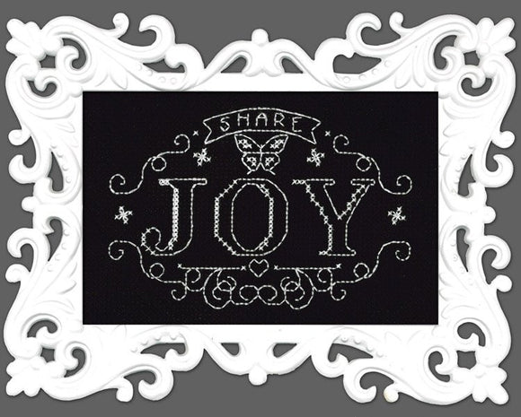Design Works Cross Stitch Kit - Share Joy Chalkboard