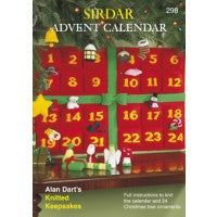 Sirdar Pattern Book 298 - Advent Calendar - Knitting Pattern - DK/Chunky