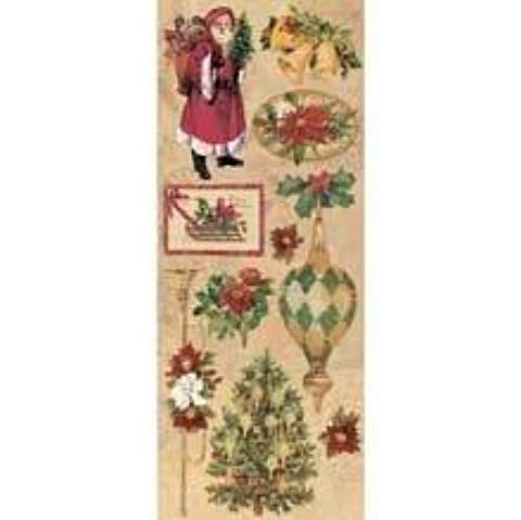 Holiday Images Embossed Stickers by Elizabeth Brownd for K&Company