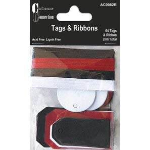 Tags and Ribbons by Colour Connection – Red White and Black