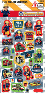 Fireman Sam Foiled Stickers
