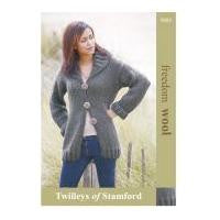 Ladies Long Line Knitted Cardigan - Twilleys of Stamford 9085