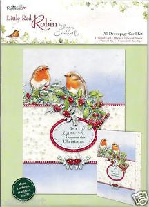 Docrafts A5 Decoupage Card Kit – Little Red Robin