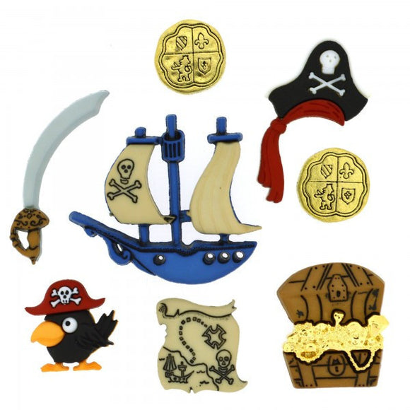 Pirates - Dress It Up Buttons by Jesse James
