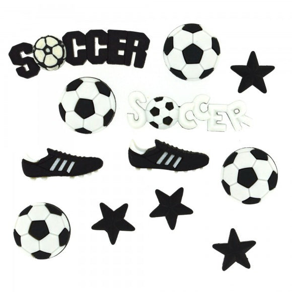 Dress It Up Buttons by Jesse James - Football (Soccer)