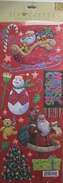 Christmas Embossed Stickers by Tim Coffey for K&Company