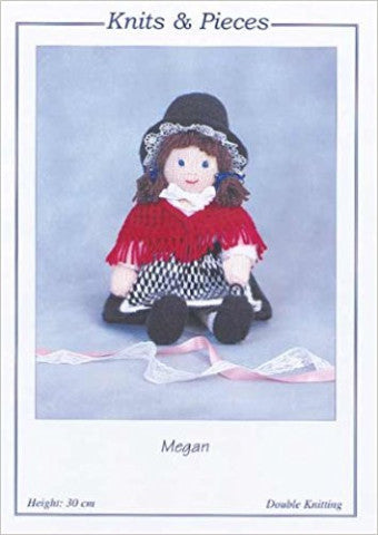 Megan Welsh Doll Knitting Pattern - Knits & Pieces KP14