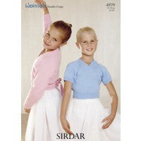 Sirdar Knitting Pattern 4979 - Kids Wrap Around Long Sleeve and Short Sleeve - DK/4-ply