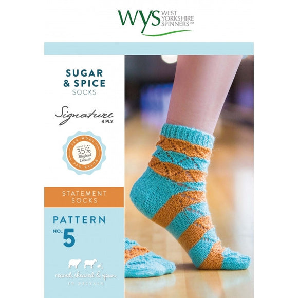 Sugar and Spice Socks Pattern - West Yorkshire Spinners Signature Style Collection