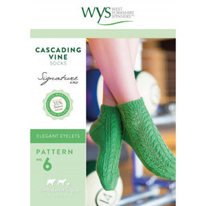 Cascading Vine Socks Pattern - West Yorkshire Spinners Signature Style Collection