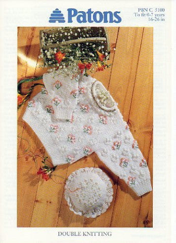Children's Round Neck Sweater - Patons 5100