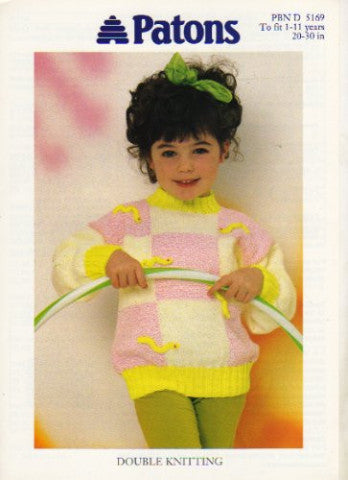 Girls Gloworm Sweater - Patons 5169