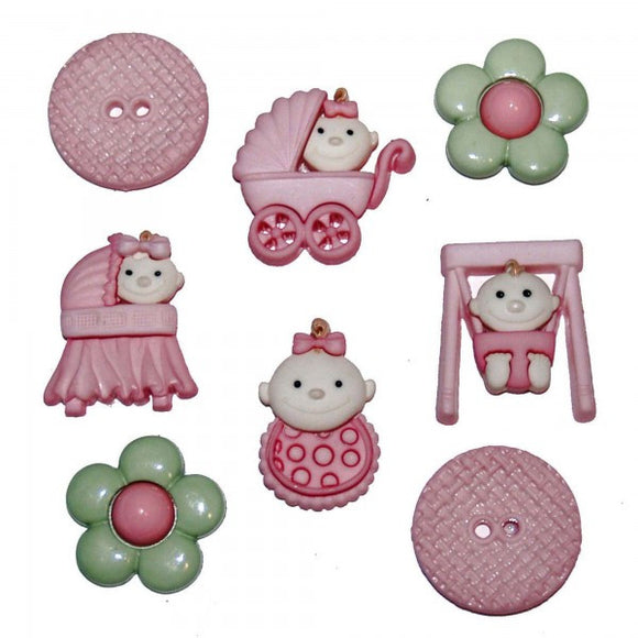 Dress It Up Buttons by Jesse James - Baby Fun - Girl