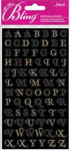 Jolees All That Bling Mini Foil Alphabet Stickers