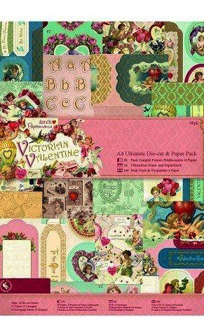 Victorian Valentine A4 Ultimate Die-Cut and Paper Pack - Papermania by Docrafts