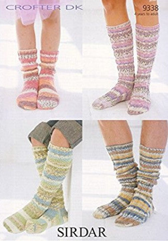Sock Knitting Pattern - Sirdar 9338