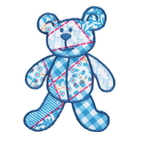 Iron-on / Sew-on Motif - Patchwork Teddy