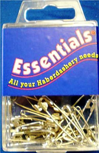 Assorted Safety Pins - Nickel Plated