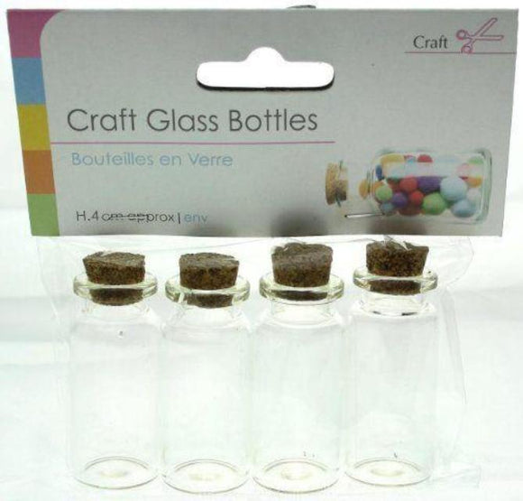 Craft Glass Bottles - Pack of 4
