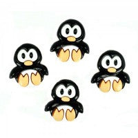 Dress It Up Buttons by Jesse James - Playful Penguins