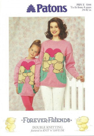 Forever Friends Sweaters - Patons 5044