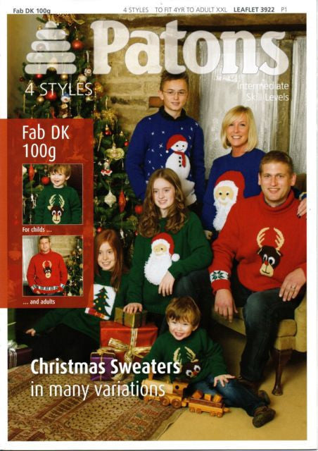 Christmas Sweaters Pattern Booklet - Patons 3922
