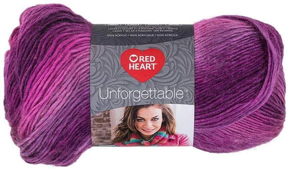 Red Heart Boutique Unforgettable Yarn in Petunia - 100g