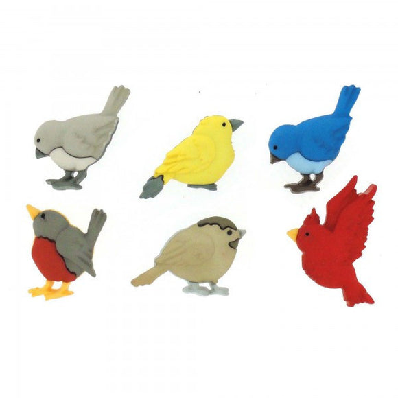 Feathered Friends - Dress It Up Buttons by Jesse James