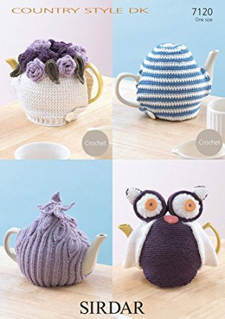 Tea Cosies Knit and Crochet - Sirdar Pattern 7120