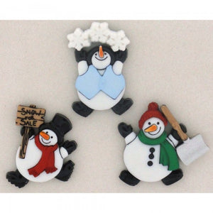 Dress It Up Buttons by Jesse James - Roly Poly Snowmen
