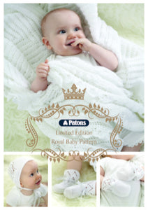 Patons Limited Edition Royal Baby Pattern - Shawl, Bonnet, Mittens and Bootees