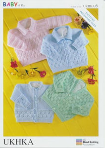 Babies Lace Pattern 4 Ply Cardigans and Jumpers- UKHKA 6