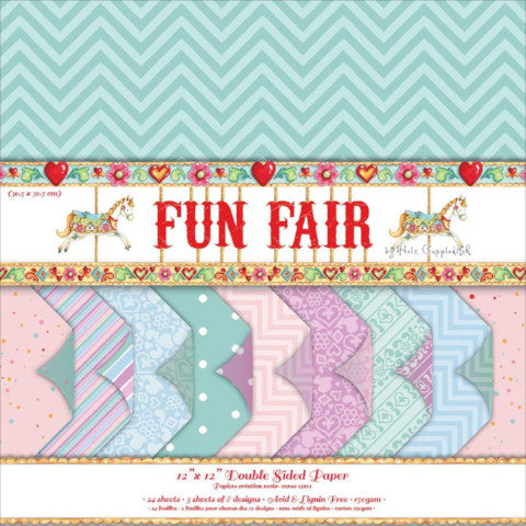 "Fun Fair by Helz Cuppleditch 12""x 12"" Backing Paper Pack"