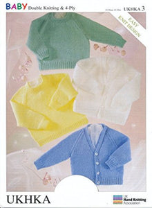 Babies Cardigans and Jumpers in 4 Ply and DK - UKHKA 3